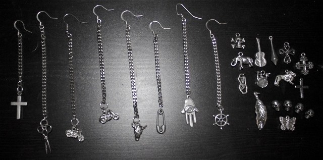 Basic earring (chain + charm) $15-$22