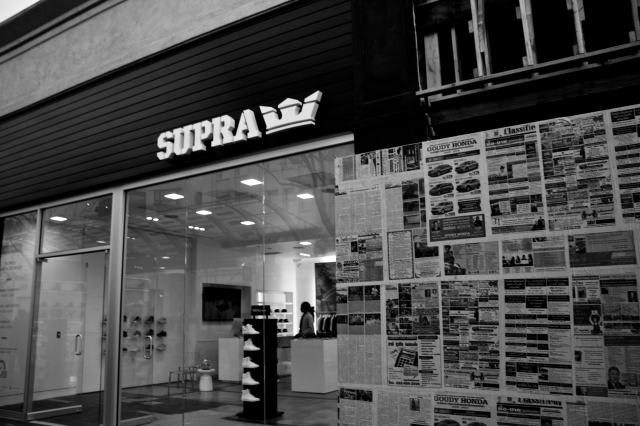 SUPRA store in Santa Monica. right next to the 3rd st. Promenade